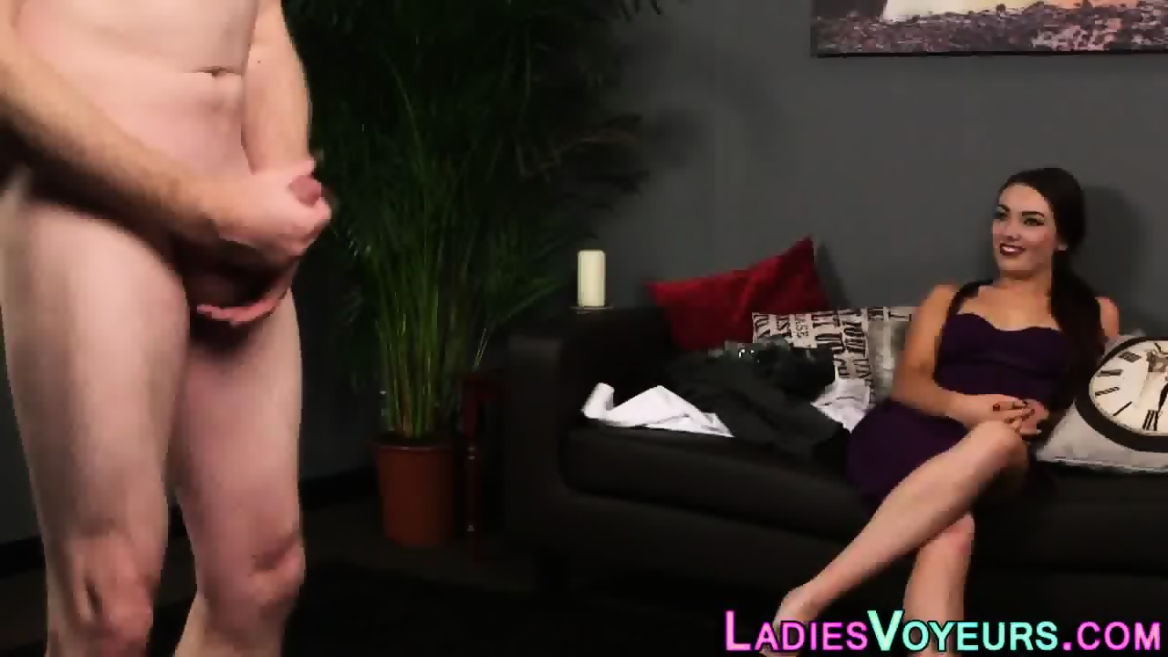 image Horny cfnm babe playing cum game and succeed