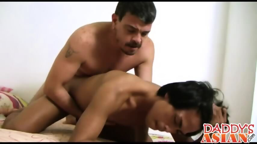 Daddy fucks perfect asian twink Hunter in his tiny twink ass - scene 8