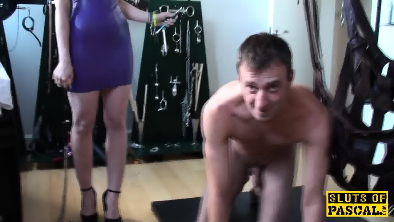 Alternative brit submissive facialized before being drenched 7