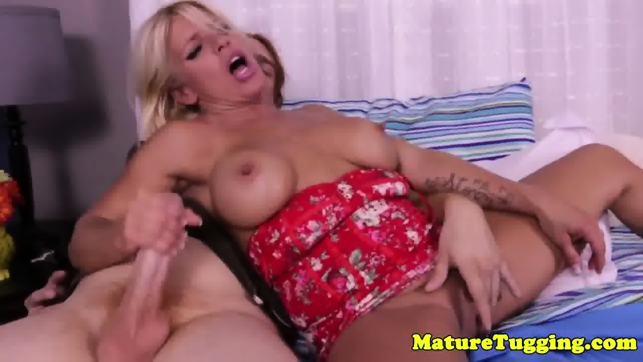 Milf in law nipple sucked while jerking