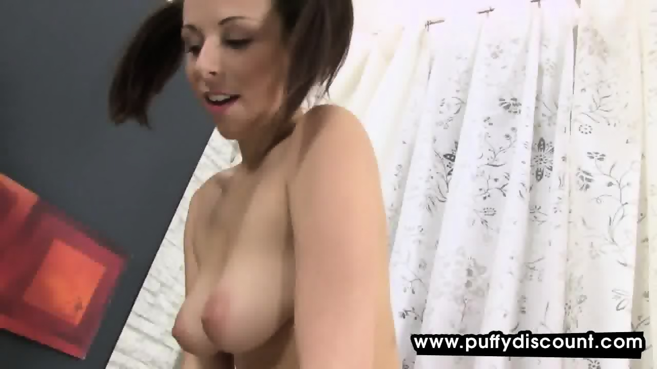 Busty camgirl enjoys playing her tight pussy
