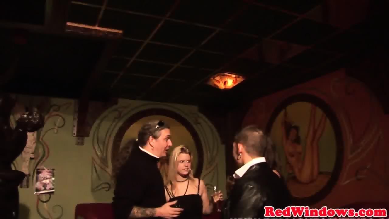 Dutch prostitute sprayed with cum 2