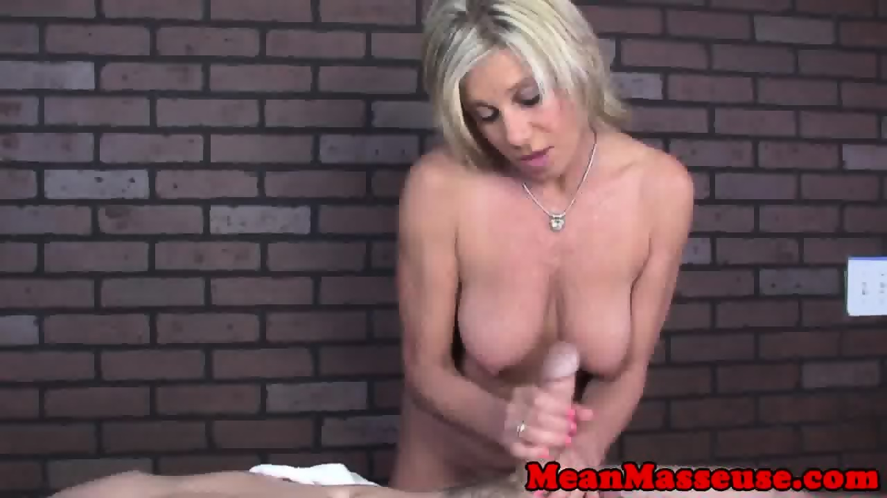 image Bigtitted mature masseuse dominates with hj