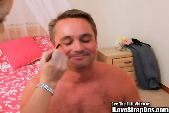 Big titty femdoms turn Kevin into a girl bend him over and pegging him -  scene