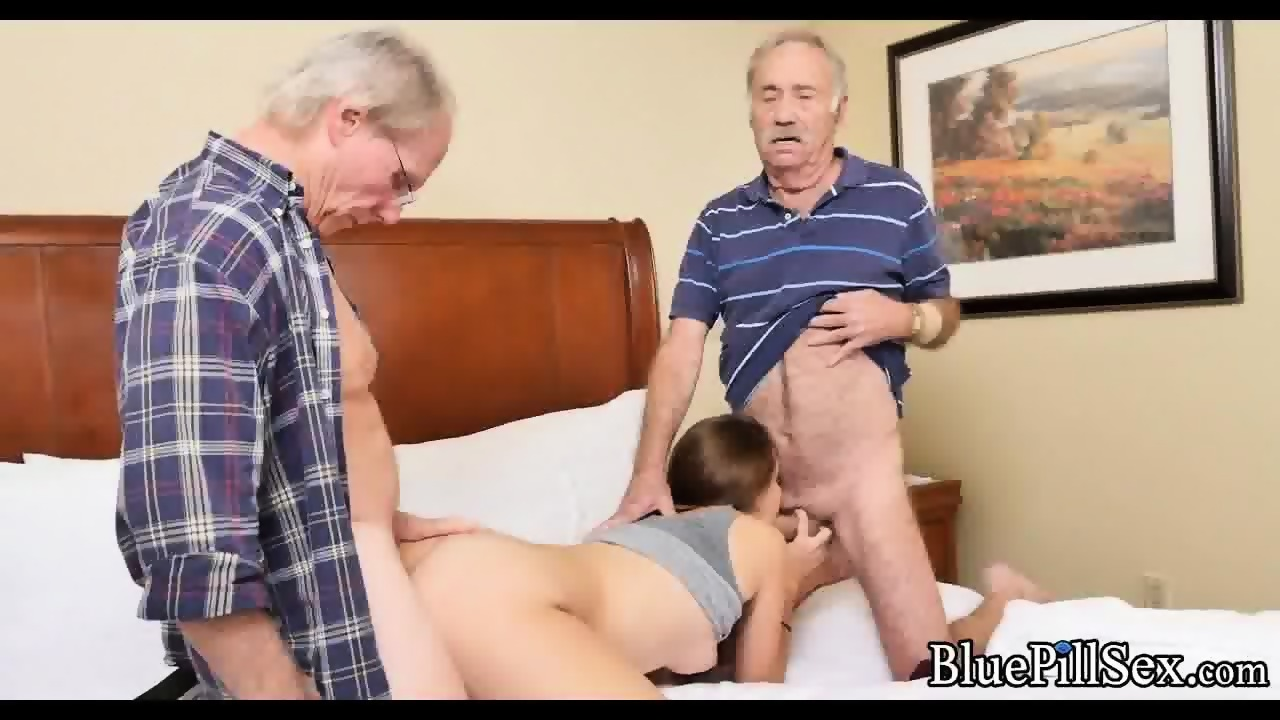 Two Old Men Fuck Teen In Hotel Room Scene 8