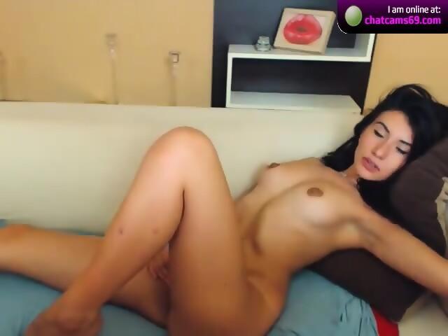 Nude oiled butt plug