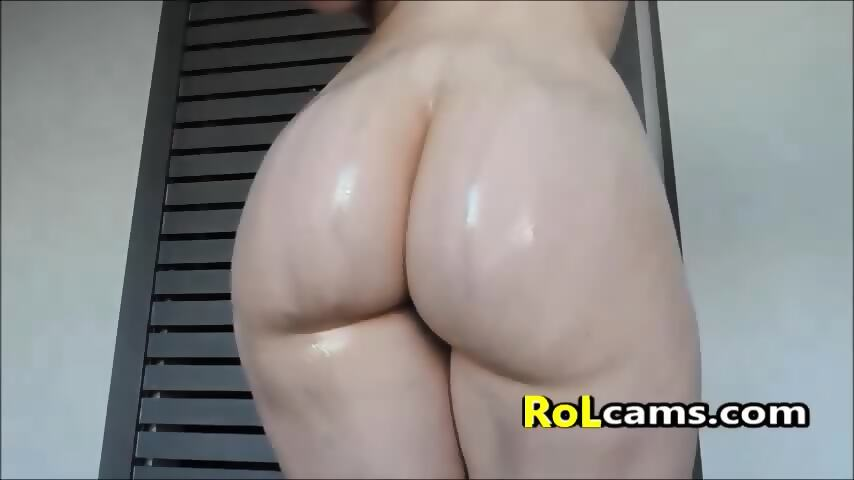 Big round white ass