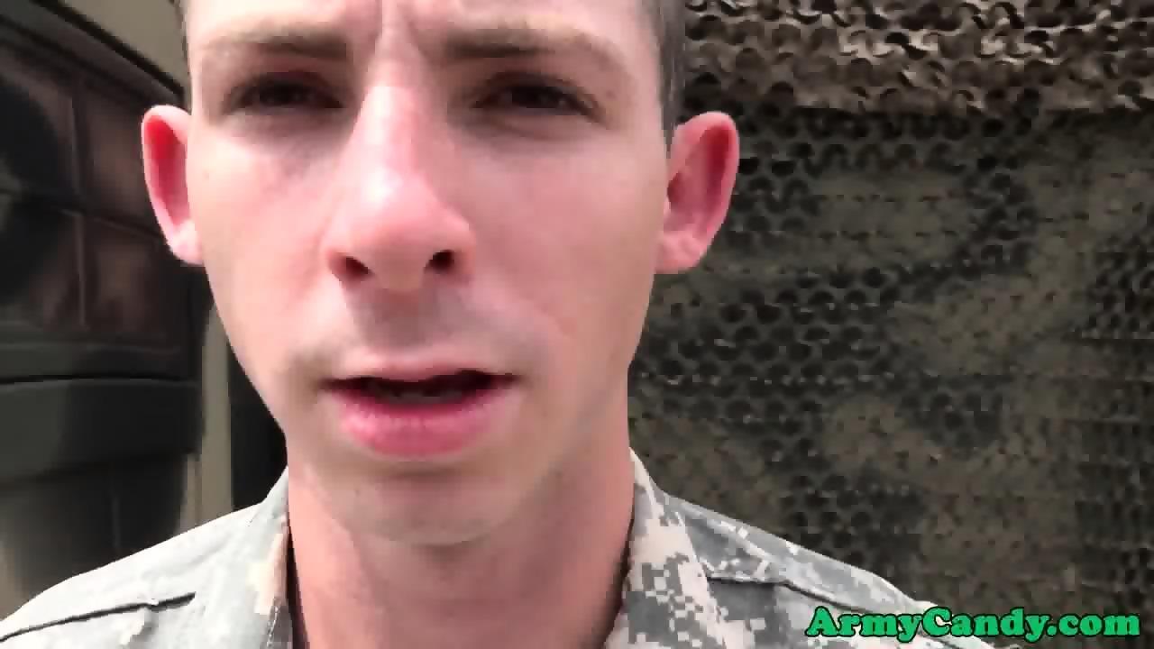 Amateur Military Dude Cum