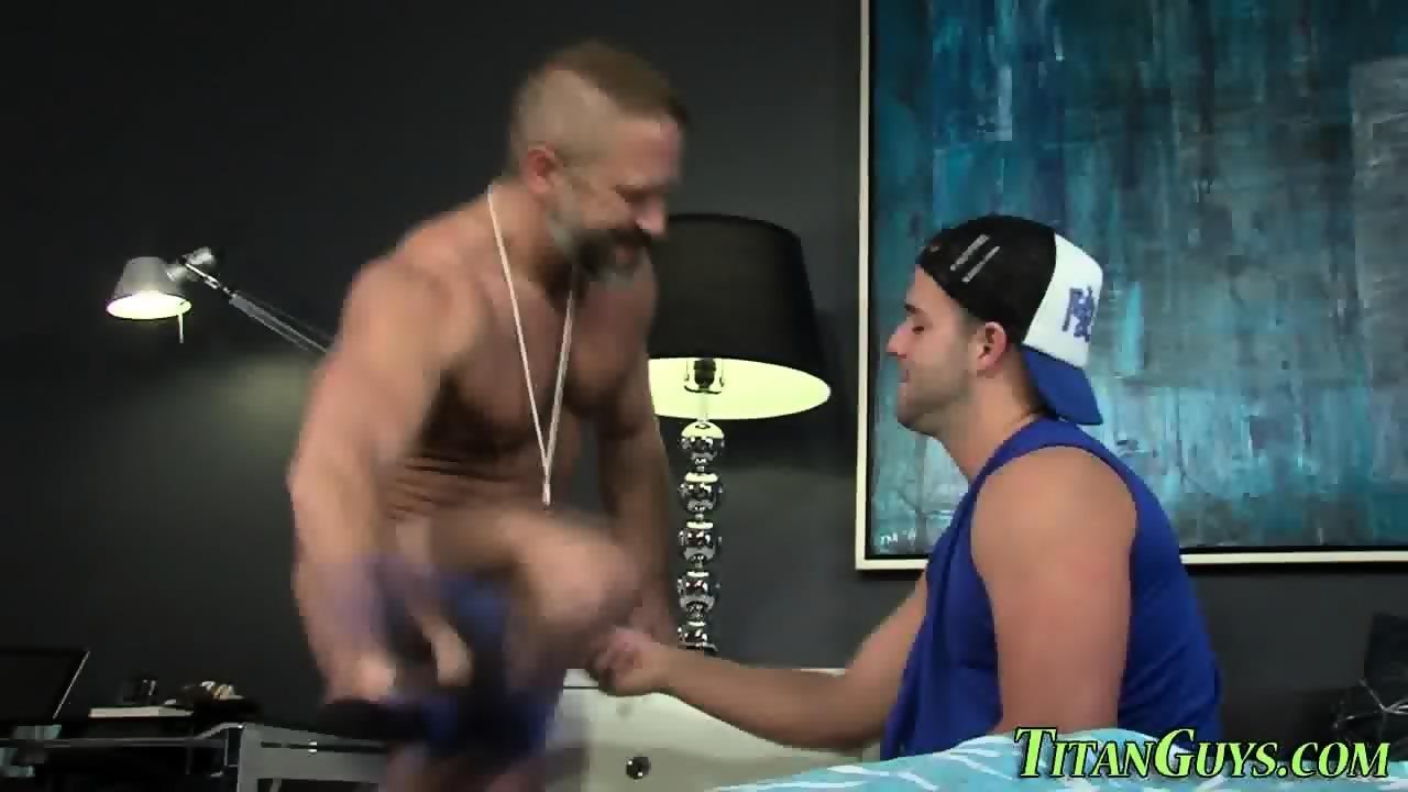 Brawny jock ass slammed