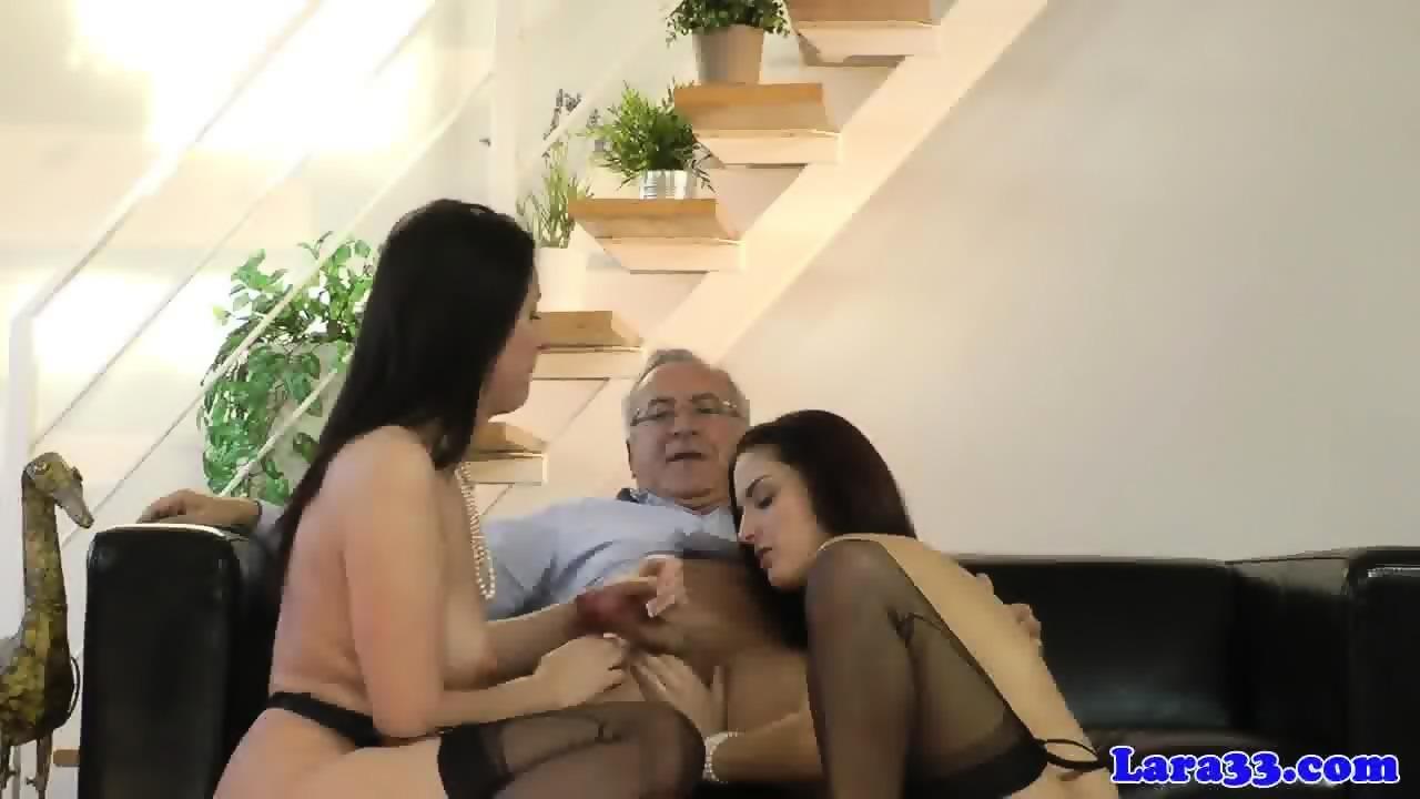 Oiledup Euro Stripper Gags On Huge Cocks