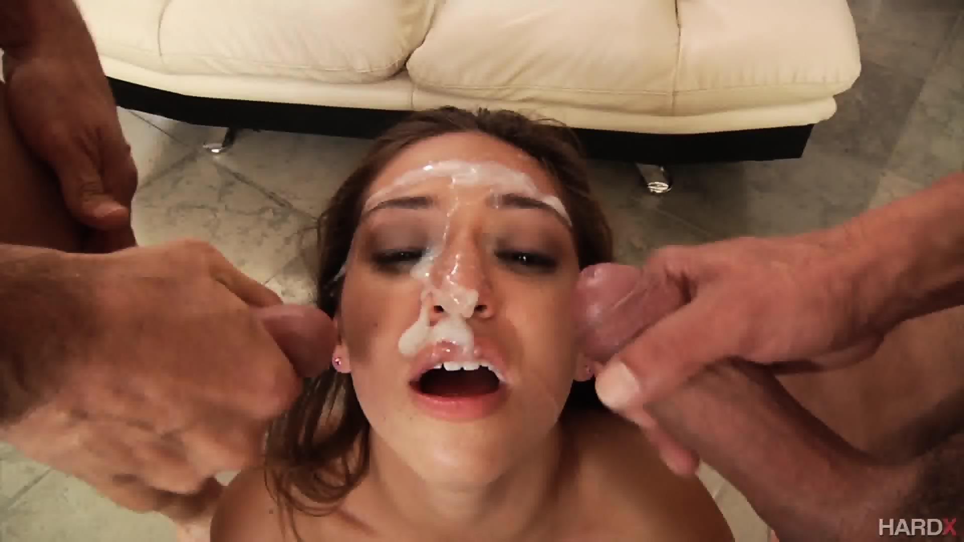 Plumper sucking own boobs