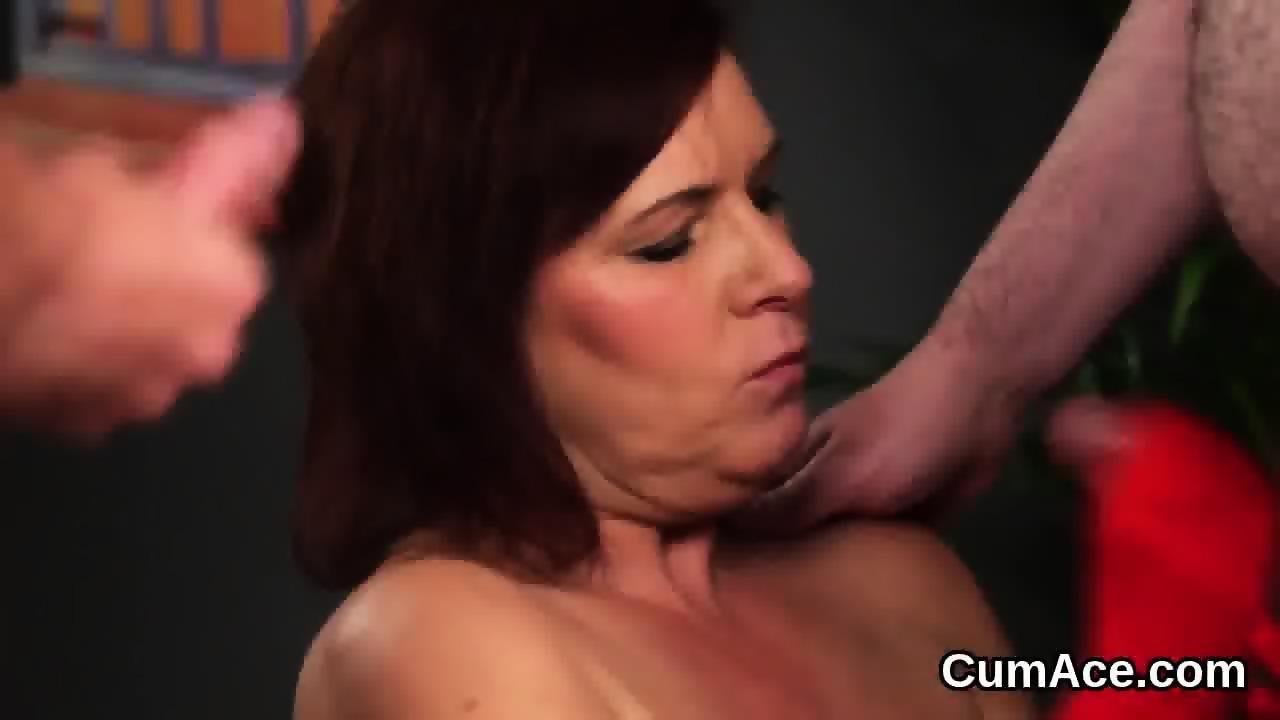 Frisky babe gets sperm shot