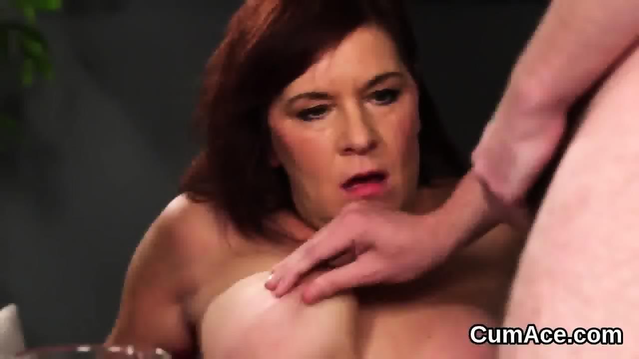 Sexy model gets sperm shot on