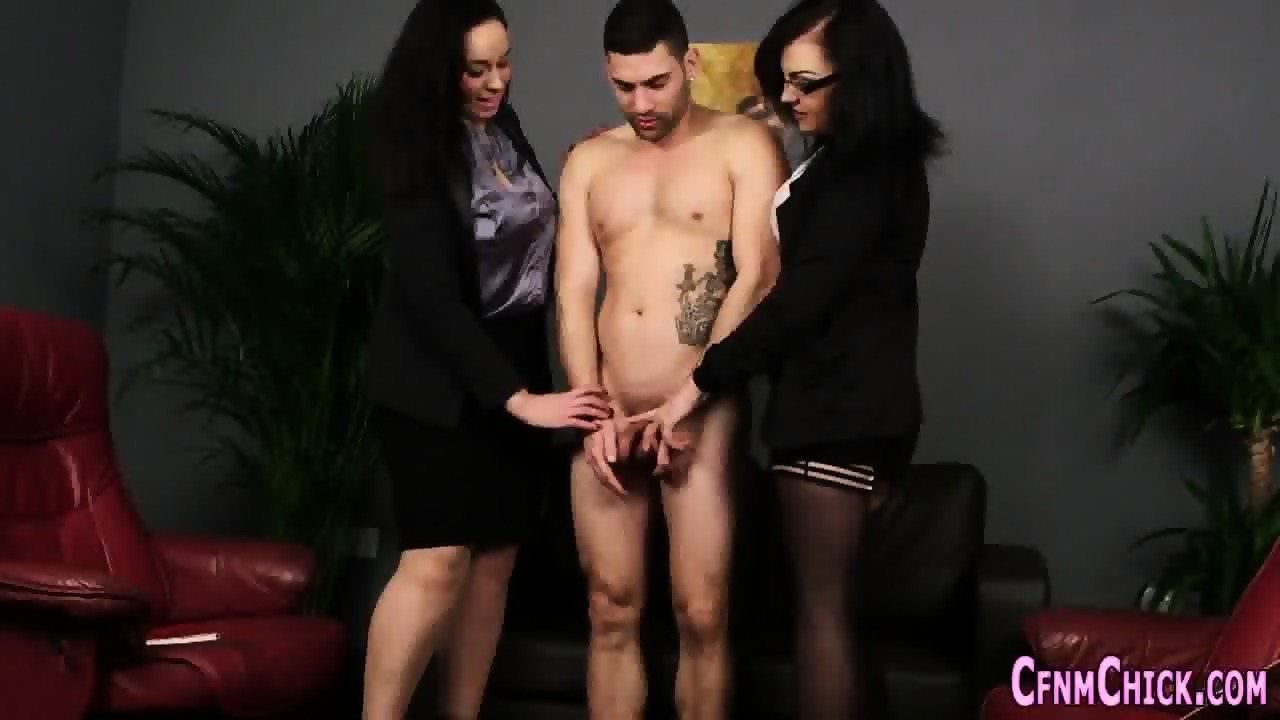 Adobable slut giving an incredible handjob 9