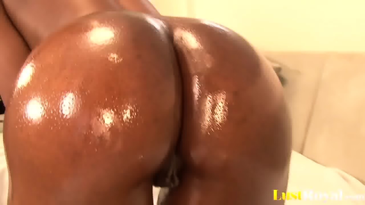Ebony filled with cum