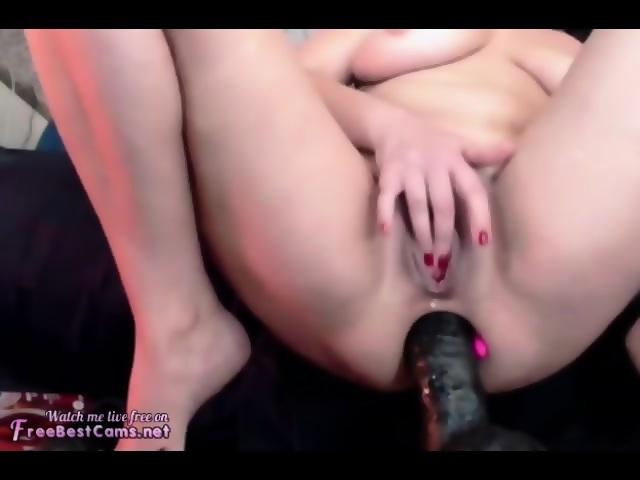 Riding Dildo Shaking Orgasm