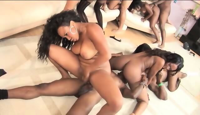 Lucky bbw black orgy looking