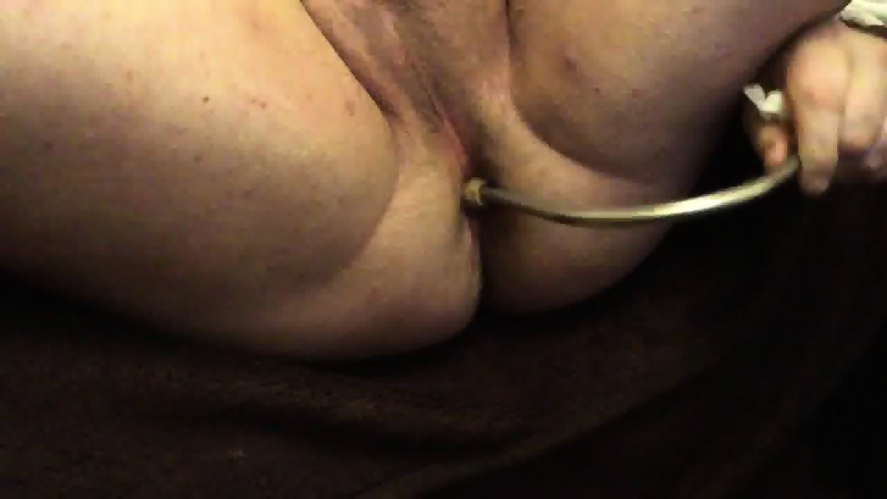 Milking prostate with dildo
