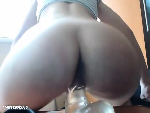 Young Ebony Riding Dildo