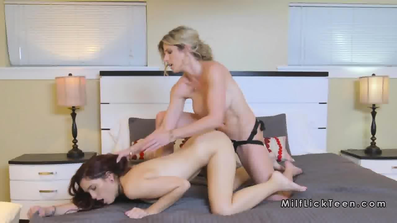 Lesbian Strap Blonde Brunette