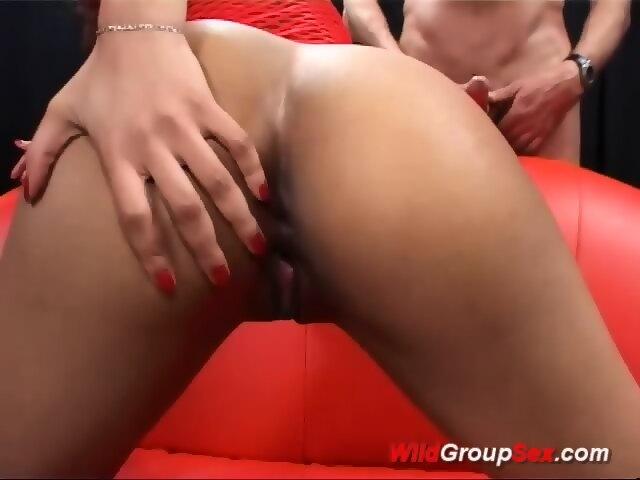 German chocolade babe anal gangbanged right!
