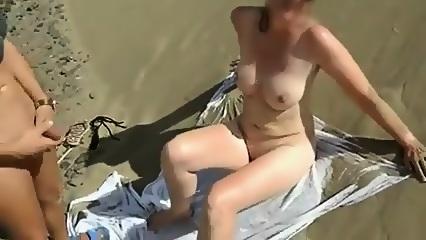 Meine Frau Am Strand