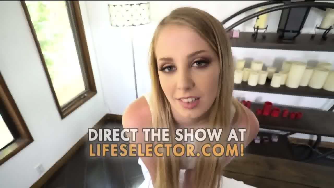 Chloe scott gets her face covered in warm cum