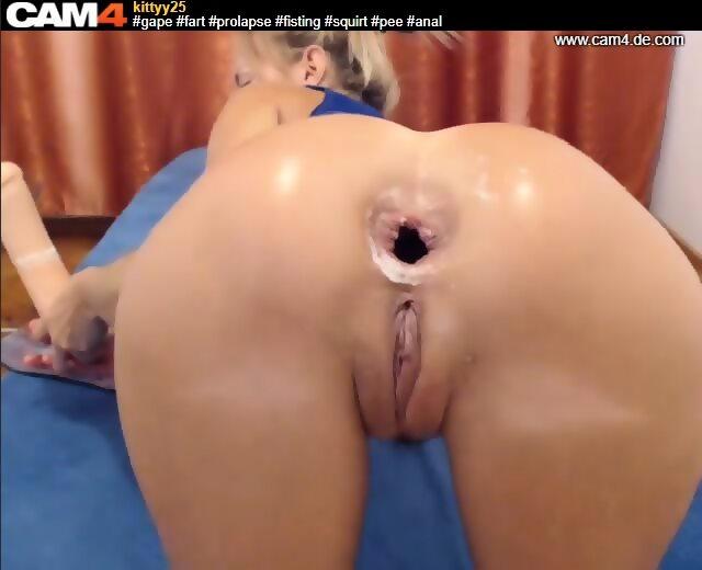 extreme asshole gape, fart, prolapse, webcamgirl, cam4-kitty25 - scene 9