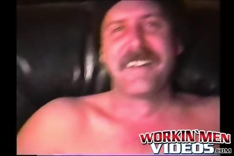 Tattooed butt muncher enjoys stroking his stiff pecker