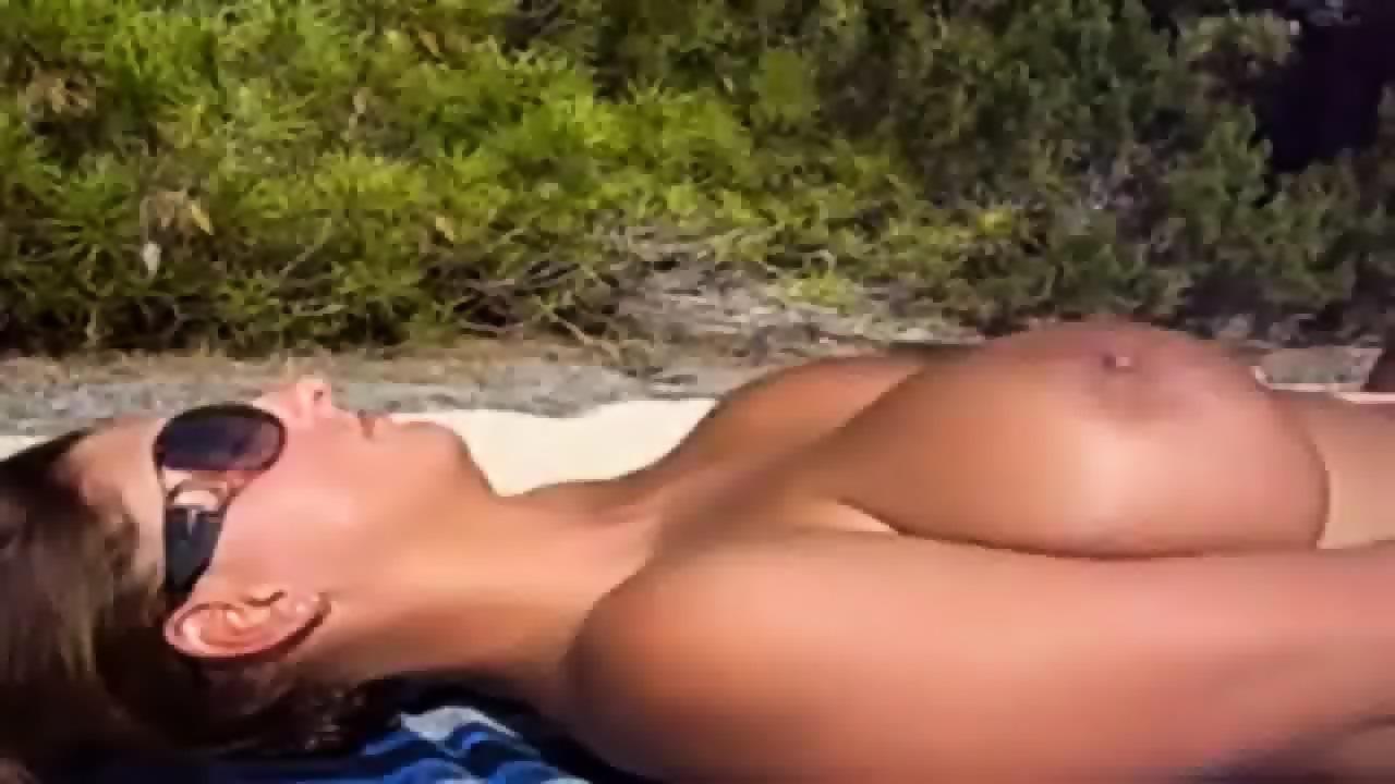 Nude beach cumshot