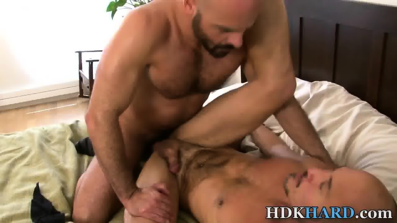 Bear throat fucks stud