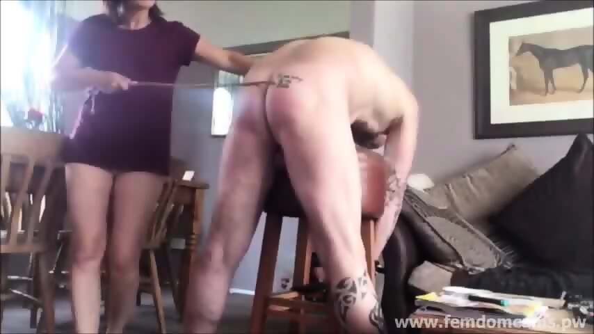 Wife Punishing, Caning and Spanking Cuck Hubby - scene 2