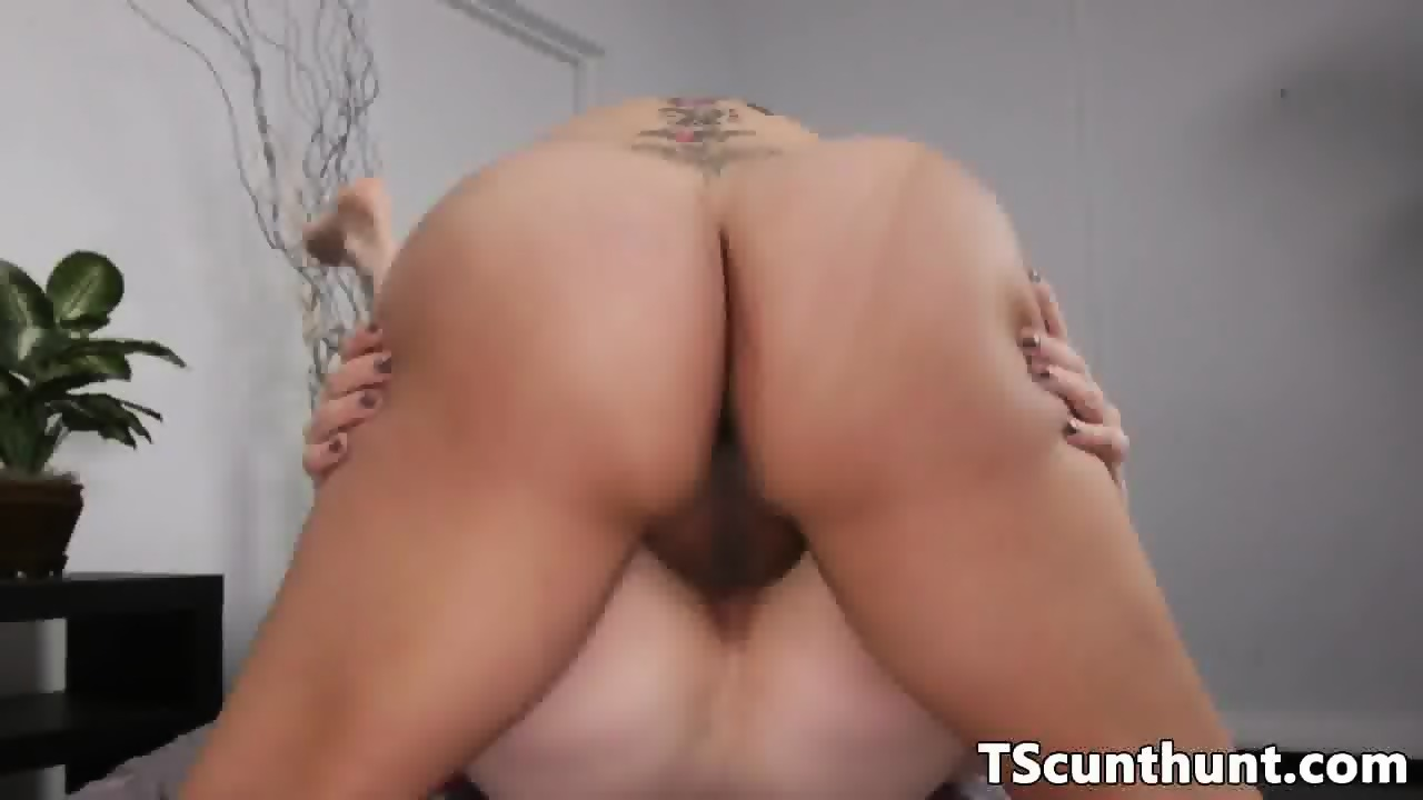Curvy TS goddess fucks female ass doggystyle