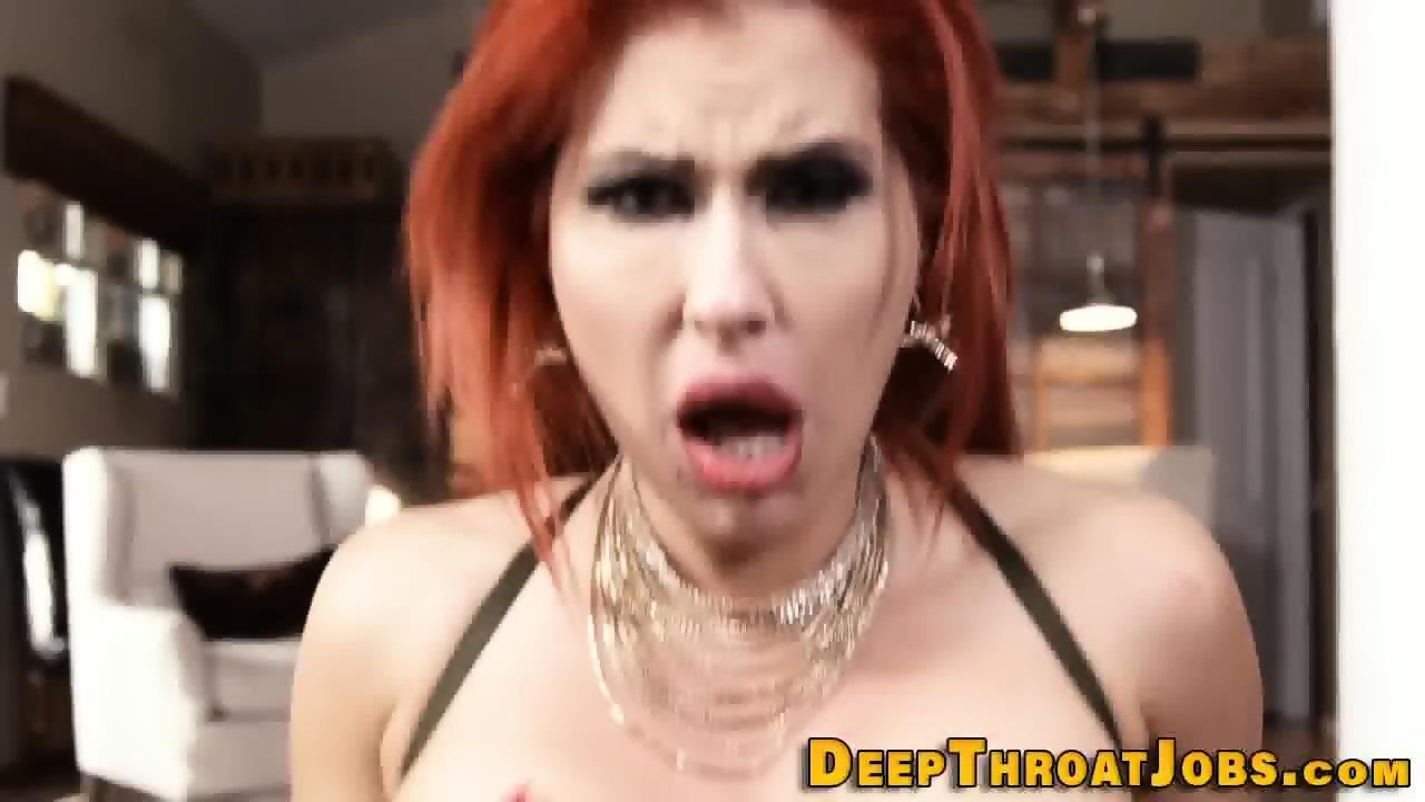 Milf redhead throats bbc