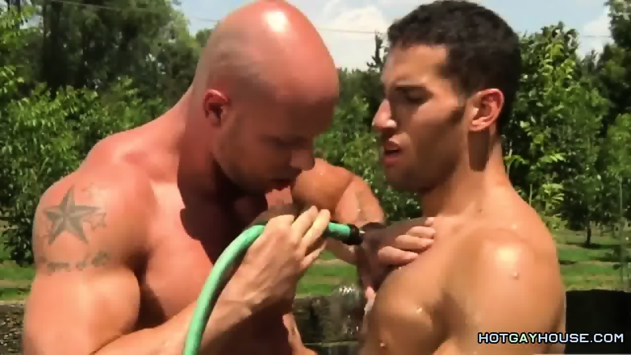 two muscled hunks fucking outdoor - eporner