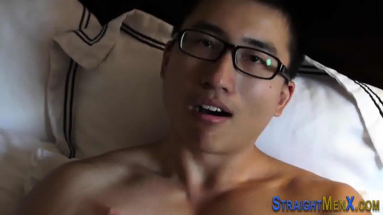 Straight asian tugs cock