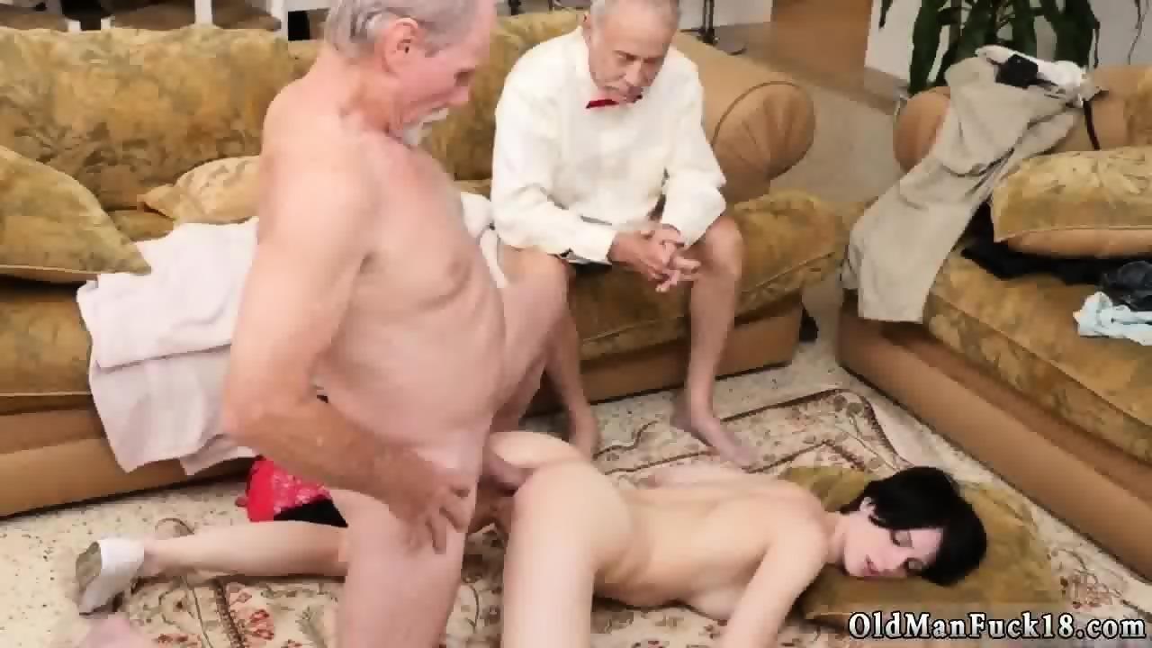 Teen Gives Old Man Handjob