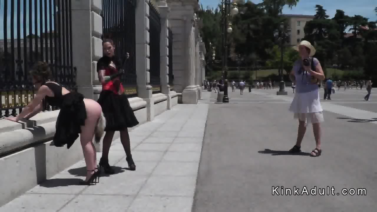 Girls grabbing boys penis