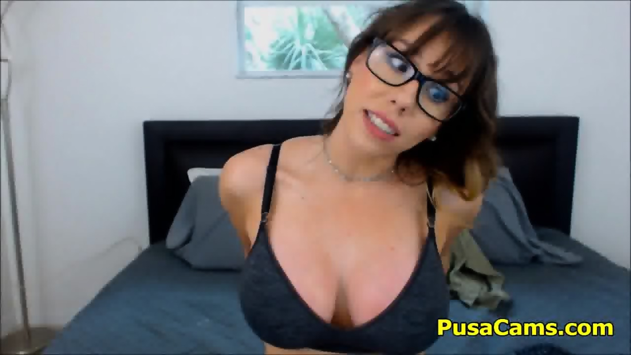Busty nerd MILF Homemade Nude Fun Video - scene 4