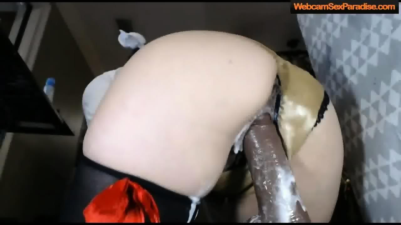 Creamy Pussy Dildo Close Up