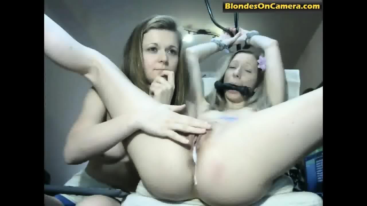 Two Blonde Lesbian Women Playing Bondage Games Eporner