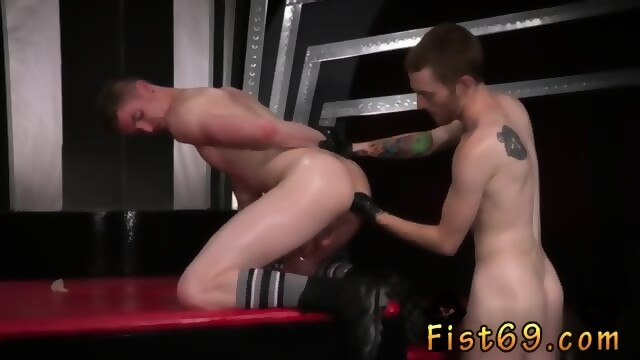 Gay anal sex stretching