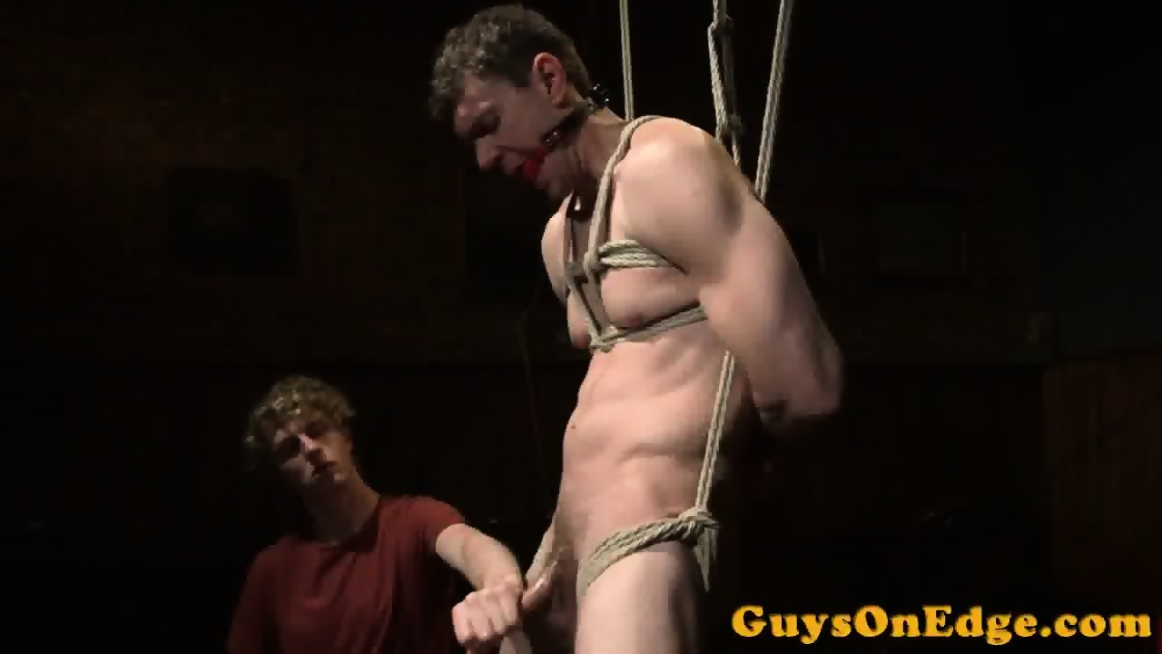 Dominated Hunk Bound During Edge Fetish