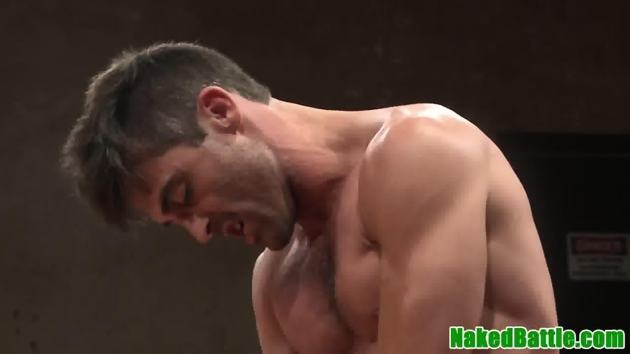 Muscular Jock Wrestles Hunk Before Analsex