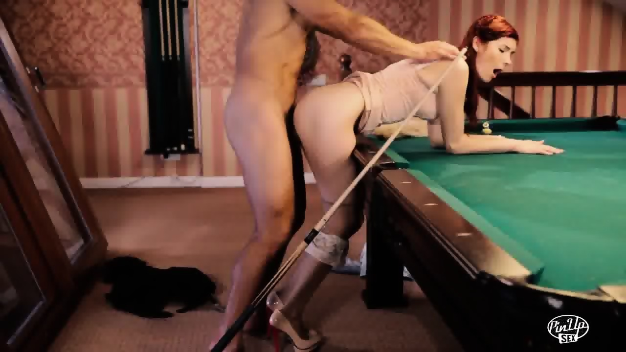 girl gets fucked on pool table