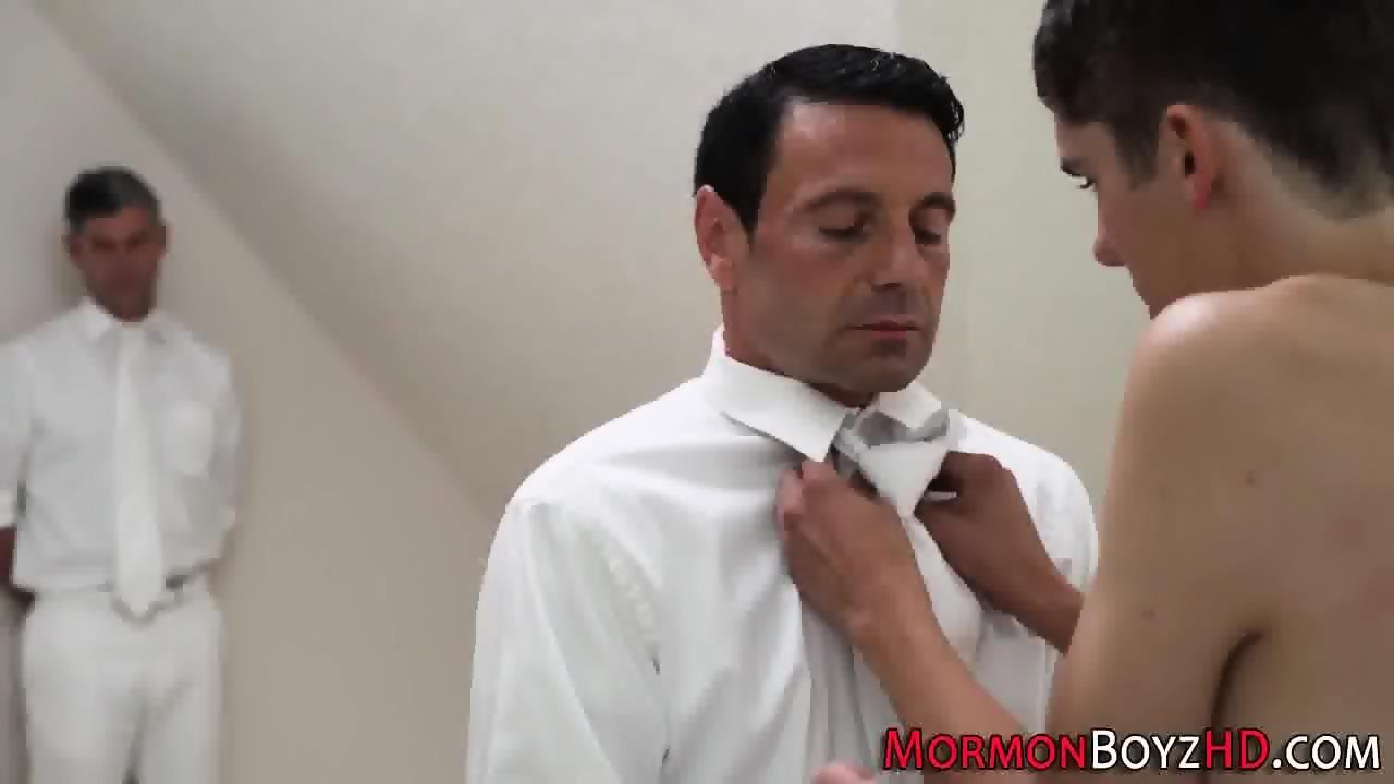 Mormon cums guys chest