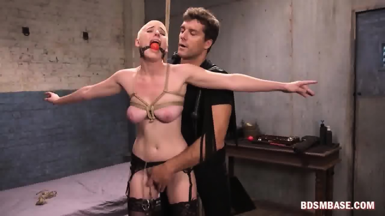 Slave husband tied and shaved