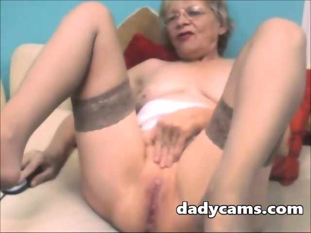 Mature on webcam masturbates Horny
