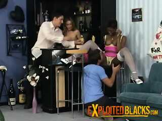 She loves to join her ebony friend for a foursome