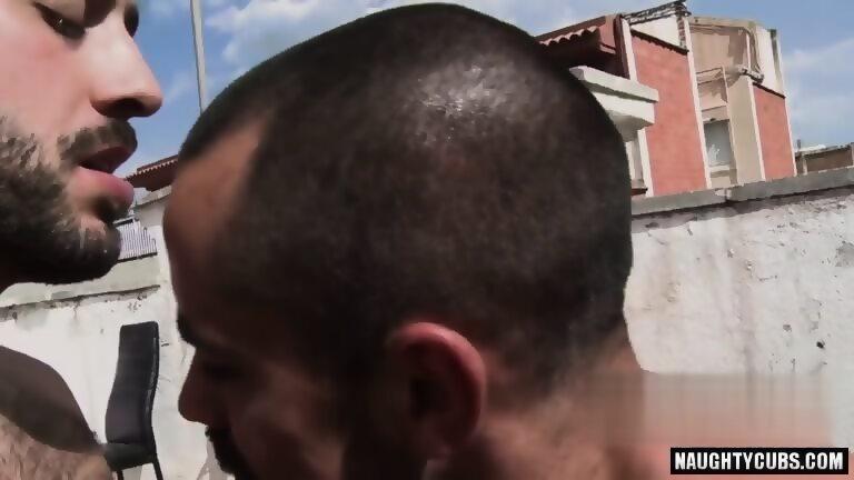 Hairy gay oral sex and facial
